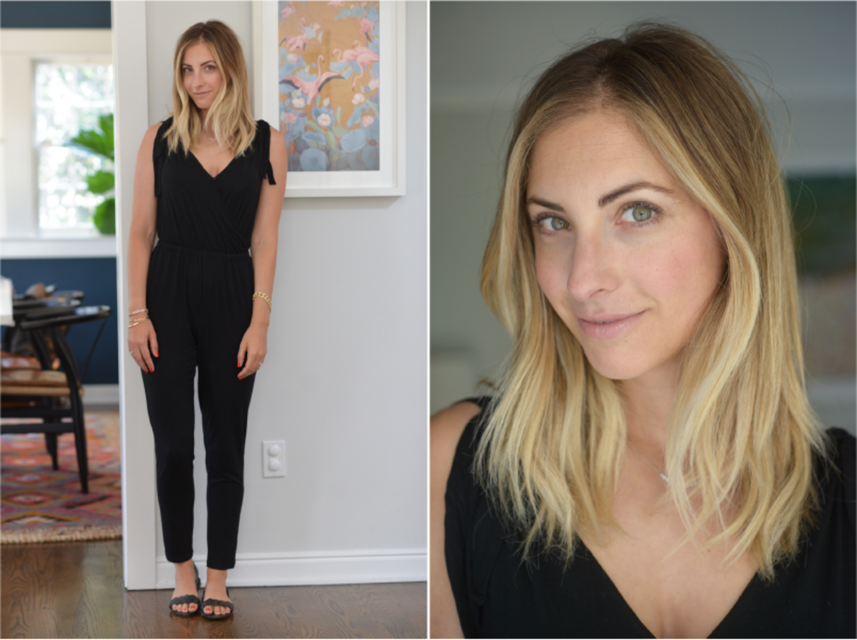Wednesday: Cupcakes and Cashmere Jumpsuit (similar here), Zara Sandals (similar here)
