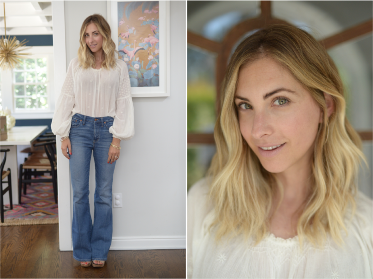Tuesday: Doen Top, Madewell Jeans (similar here), Philosophy Sandals (similar here)