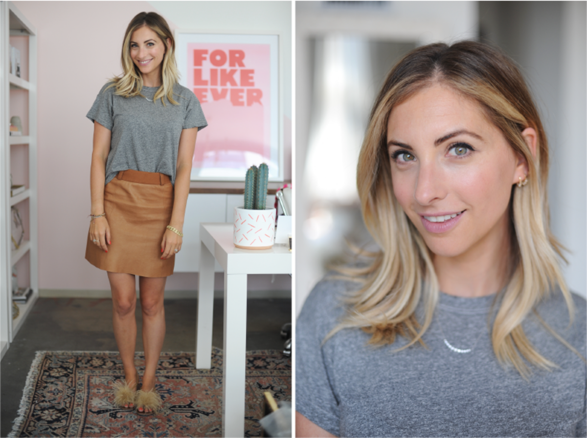 Tuesday: The Great Shirt (similar here), Ryder Skirt (similar here), Zara Sandals (similar in black here)