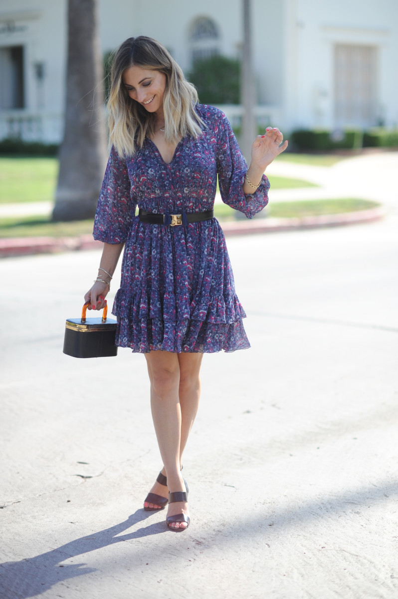 Ulla Johnson Dress c/o (on sale), Hermes Belt (similar here), Vintage Bag (similar here), Manolo Blahnik Sandals (similar here)