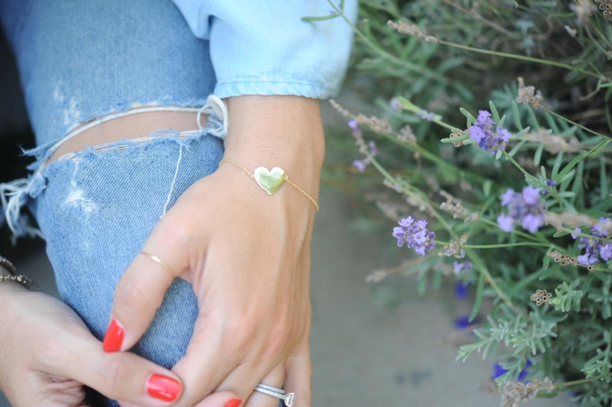 {The sweetest dainty bracelet we just got back in stock in The Shop}
