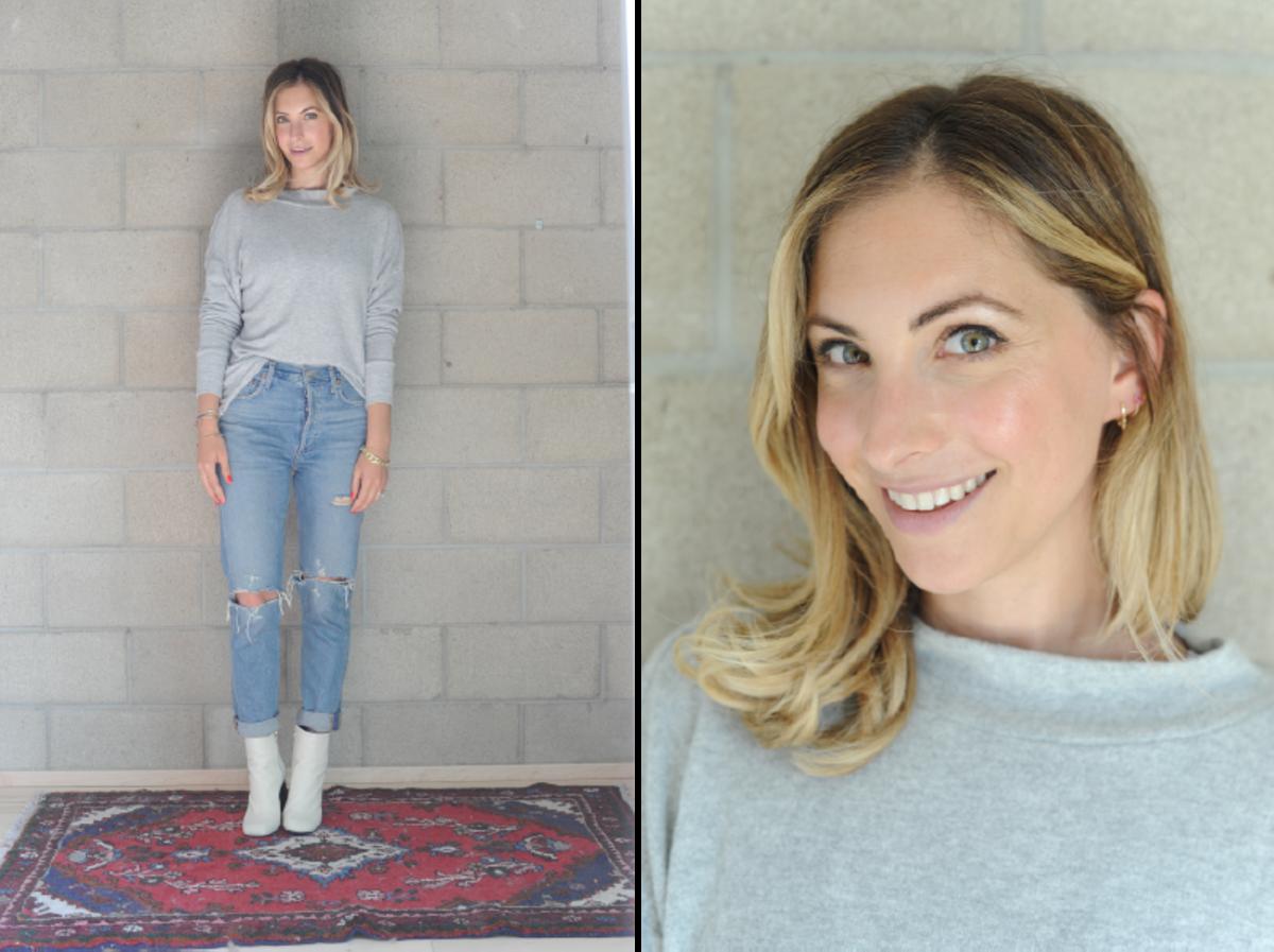 Wednesday: Varley Sweatshirt, Agolde Jeans, Rag + Bone Booties