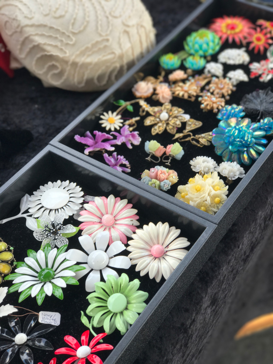 {Flea market brooches}