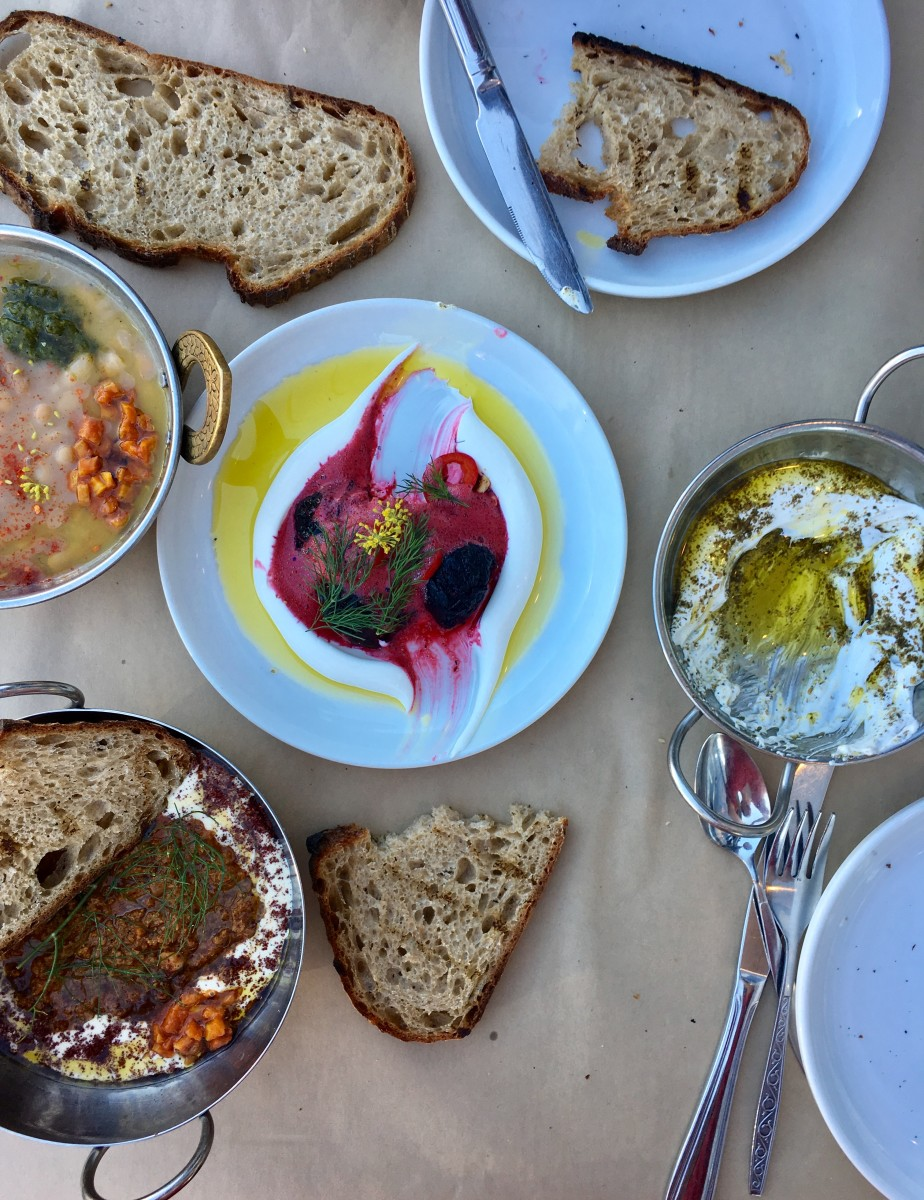 {A colorful dinner at Mh Zh in Silver Lake}