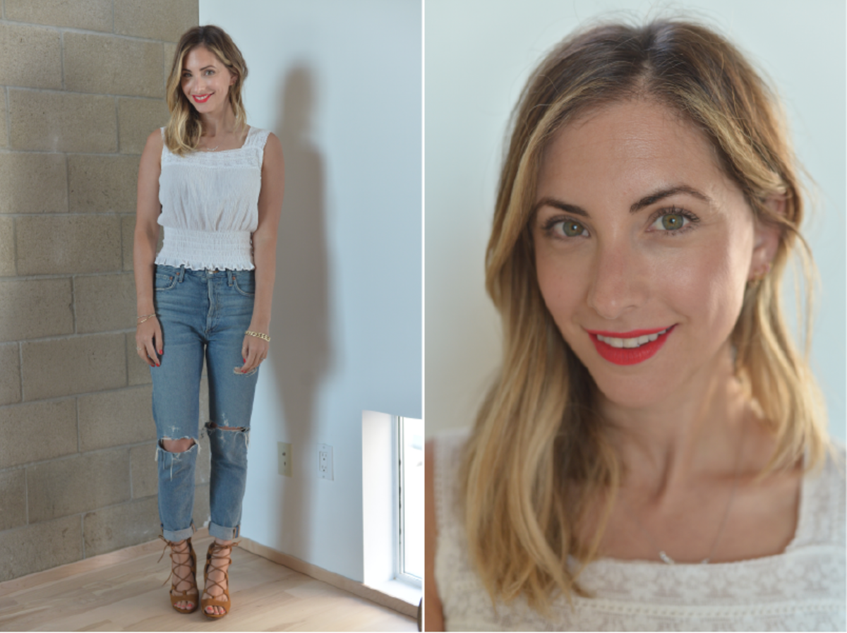 Monday: Vintage Blouse (similar here), Agolde Jeans, Zara Sandals (similar here), Maybelline Lip Stain in 'Heroine'