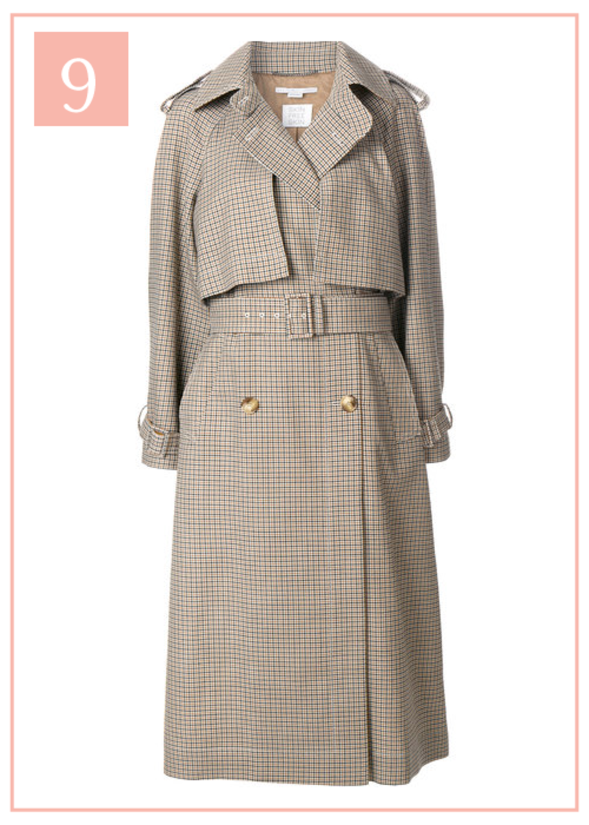 The 10 Pieces I Have My Eye on for Fall _Plaid Trench