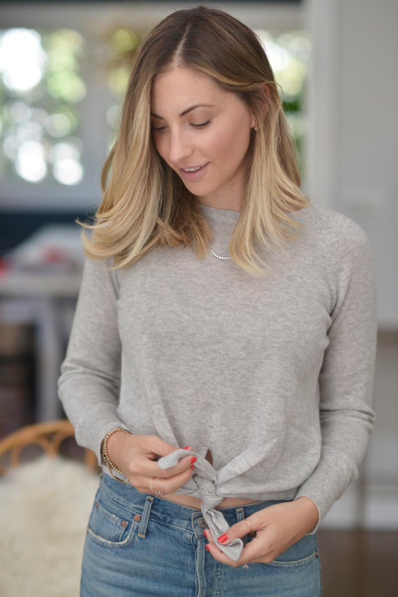 {The coziest cashmere sweater, with a fun twist}