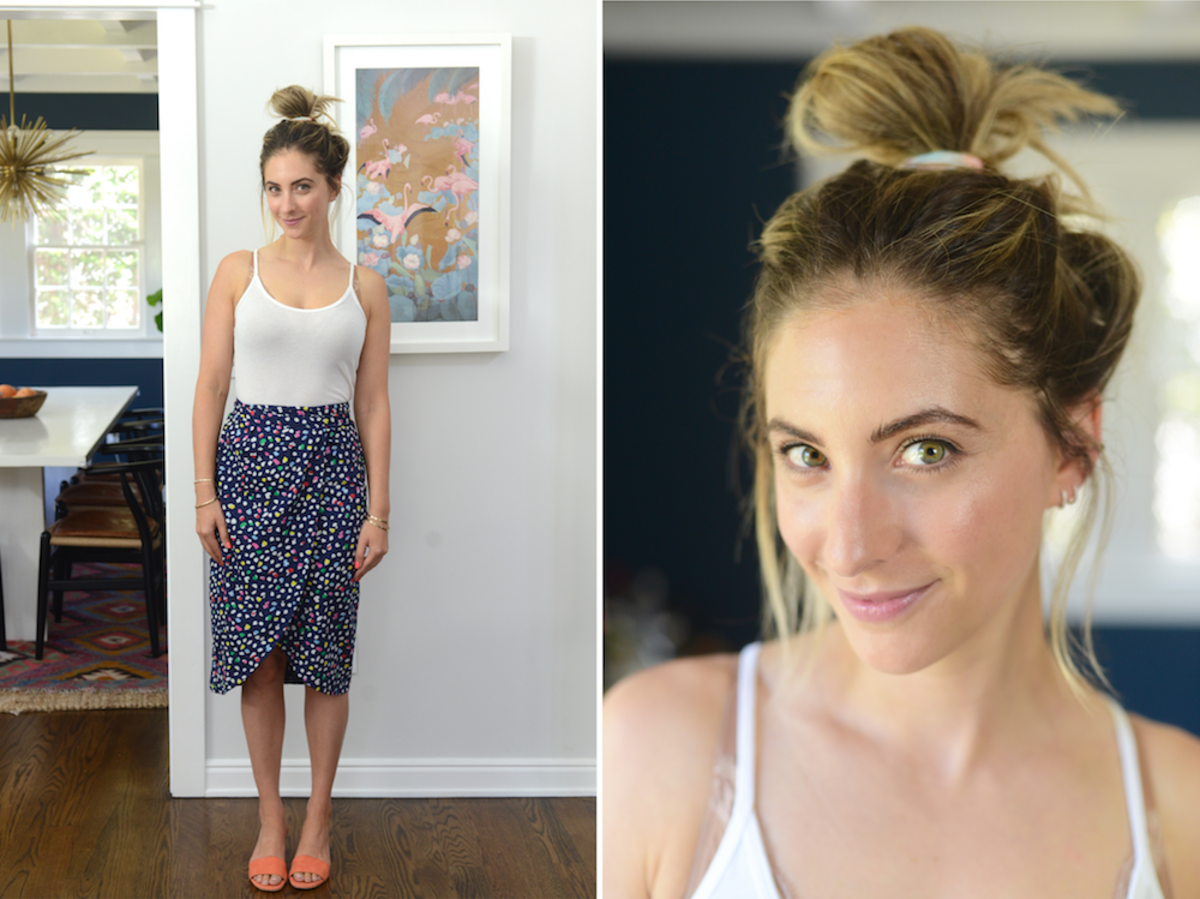 Thursday: C&C Tank Top, J.Crew Skirt (on sale), Brother Vellies Slides
