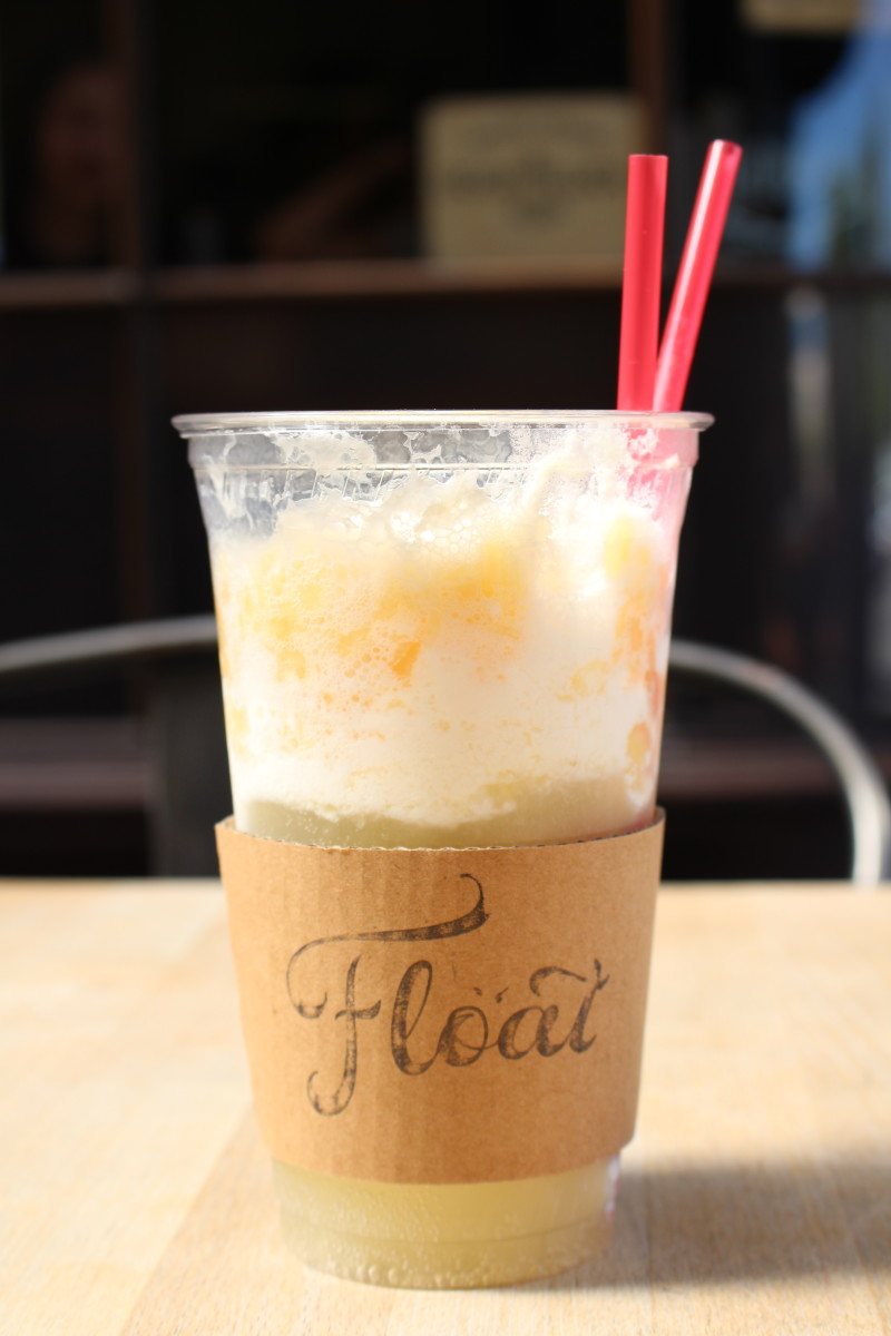 {A piña colada ice cream float from Float in Pasadena}
