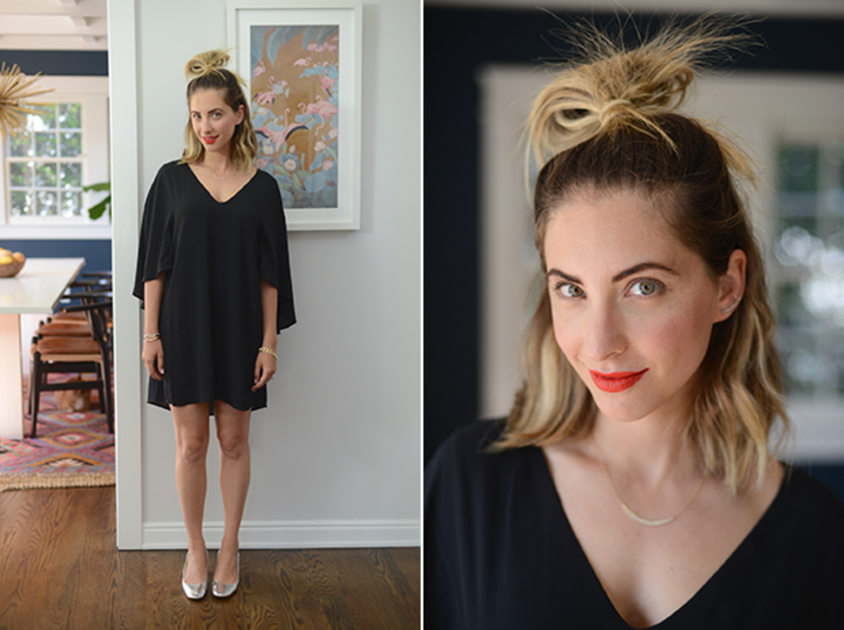 Tuesday: Cupcakes and Cashmere Dress, Zara Shoes, Nars 'Heat Wave' Lipstick