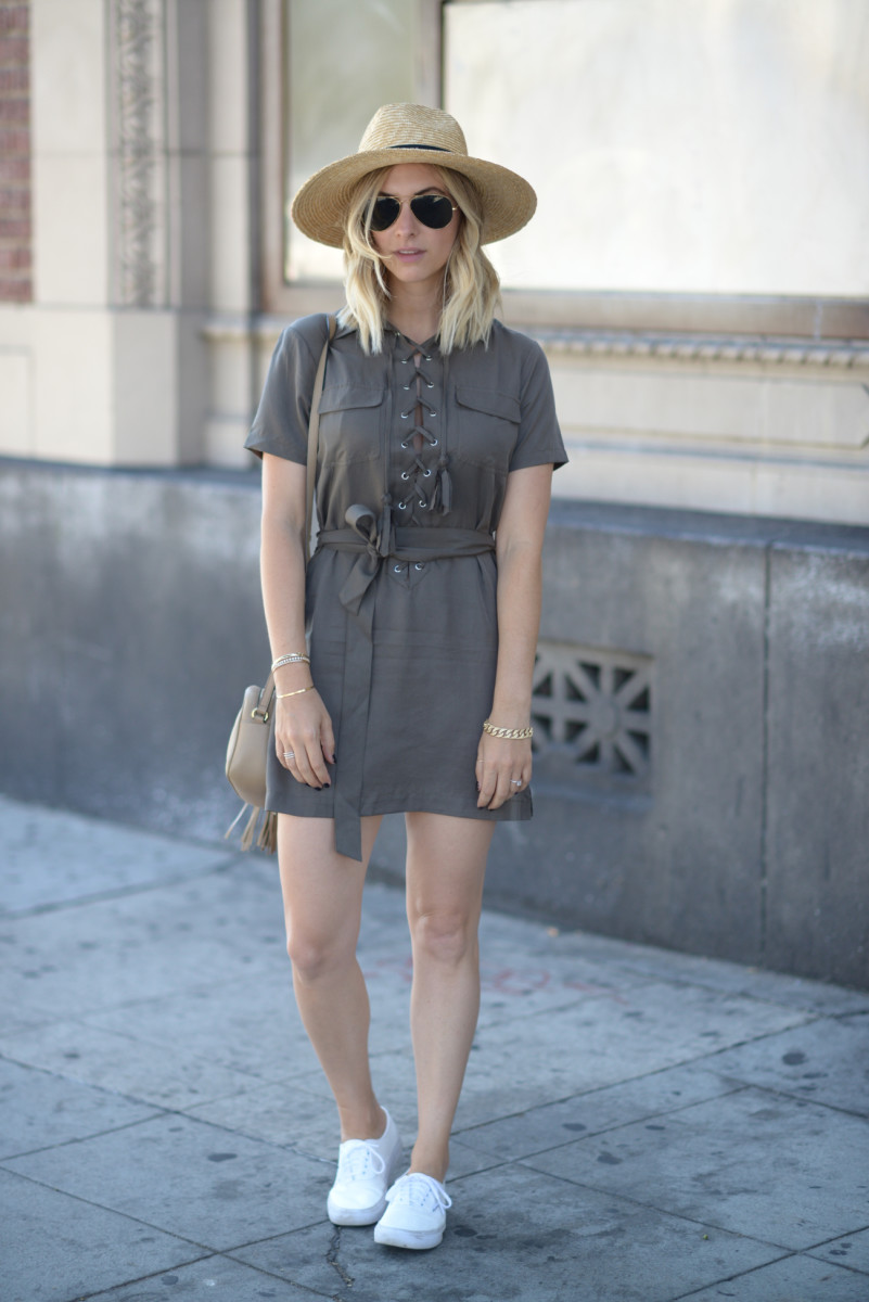 Ace of Something Hat, Ray-Ban Aviators, Capulet Dress, Vans Shoes, Gucci Bag