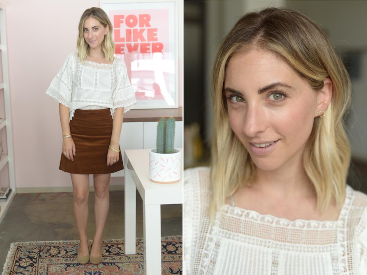 Monday: Zara Blouse, J.Crew Skirt, A Détacher Shoes