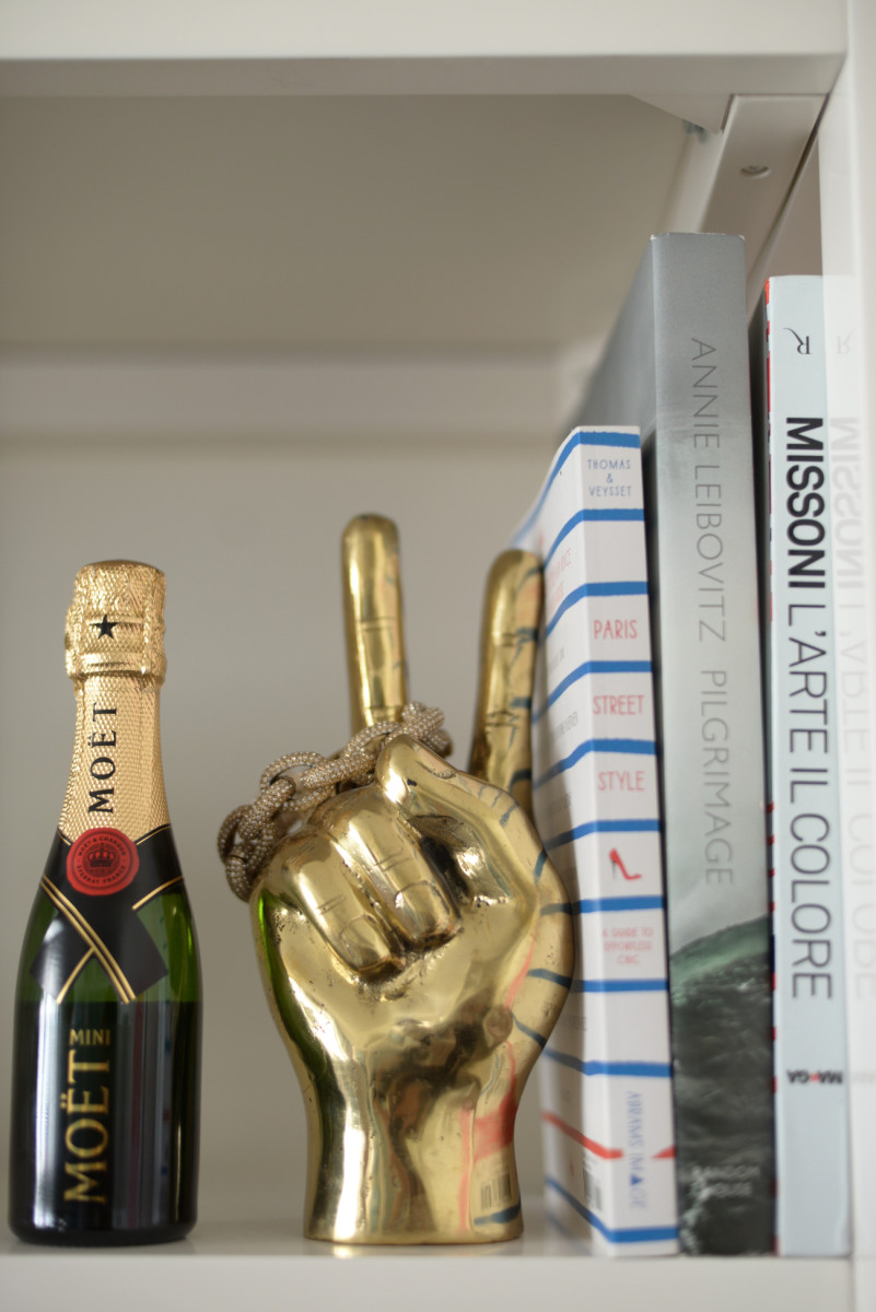 {Mini Moet makes any bookshelf better}