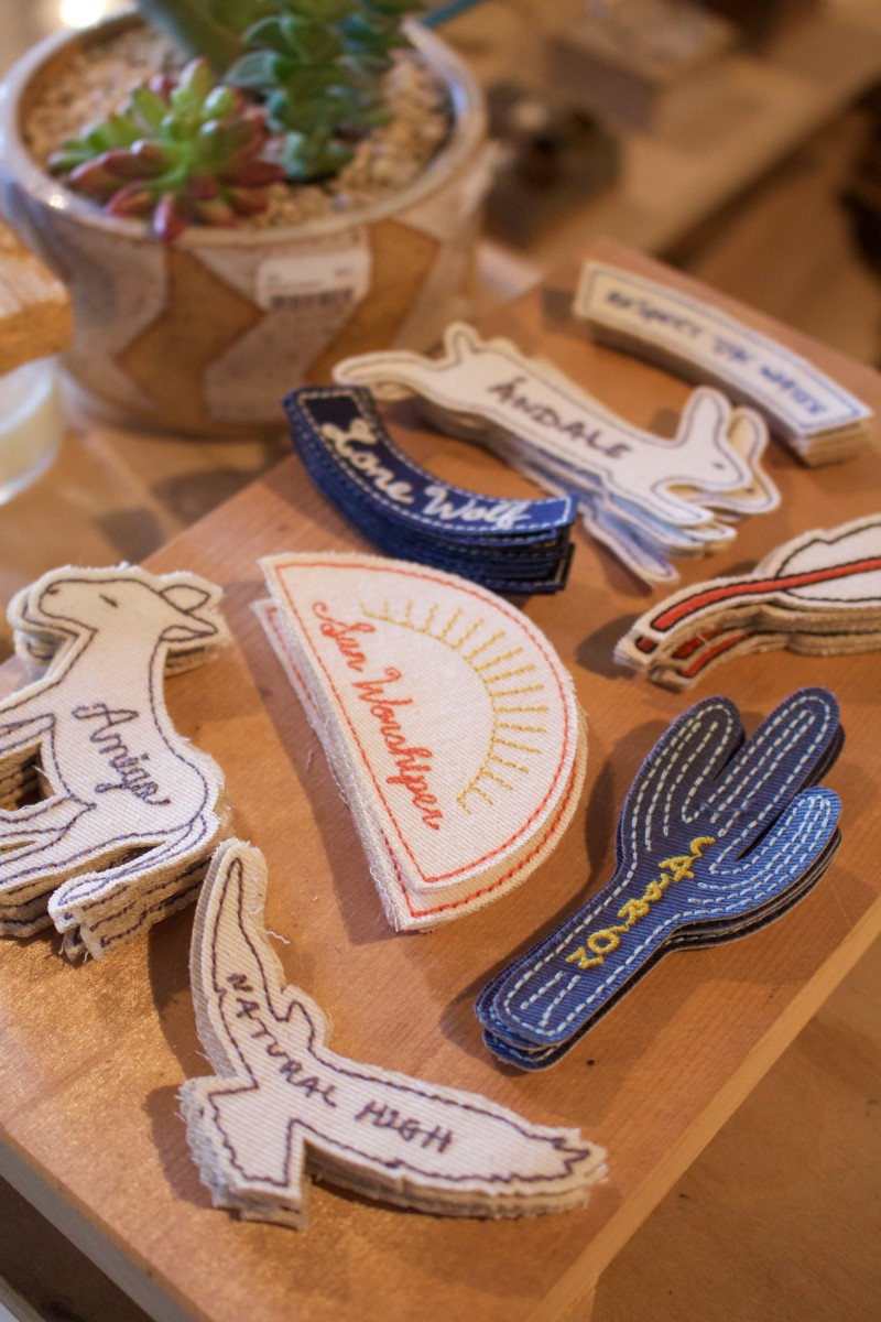 {Darling Southwest-inspired patches that would be perfect for a denim jacket}