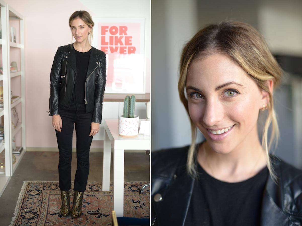 Thursday: Anine Bing Jacket, ATM Shirt, JBrand Jeans, Topshop Boots