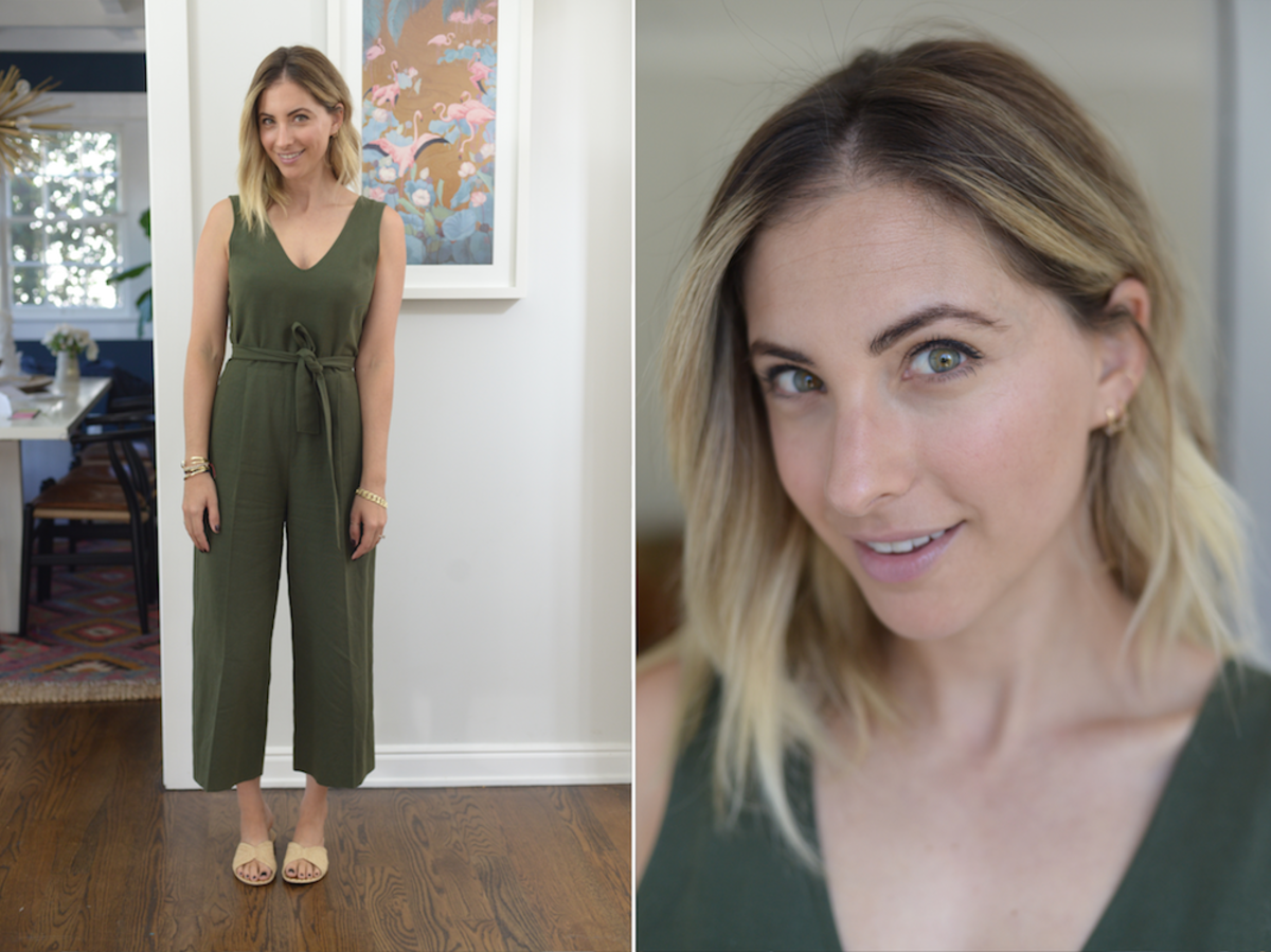 Friday: Club Monaco Jumpsuit, Carrie Forbes Sandals