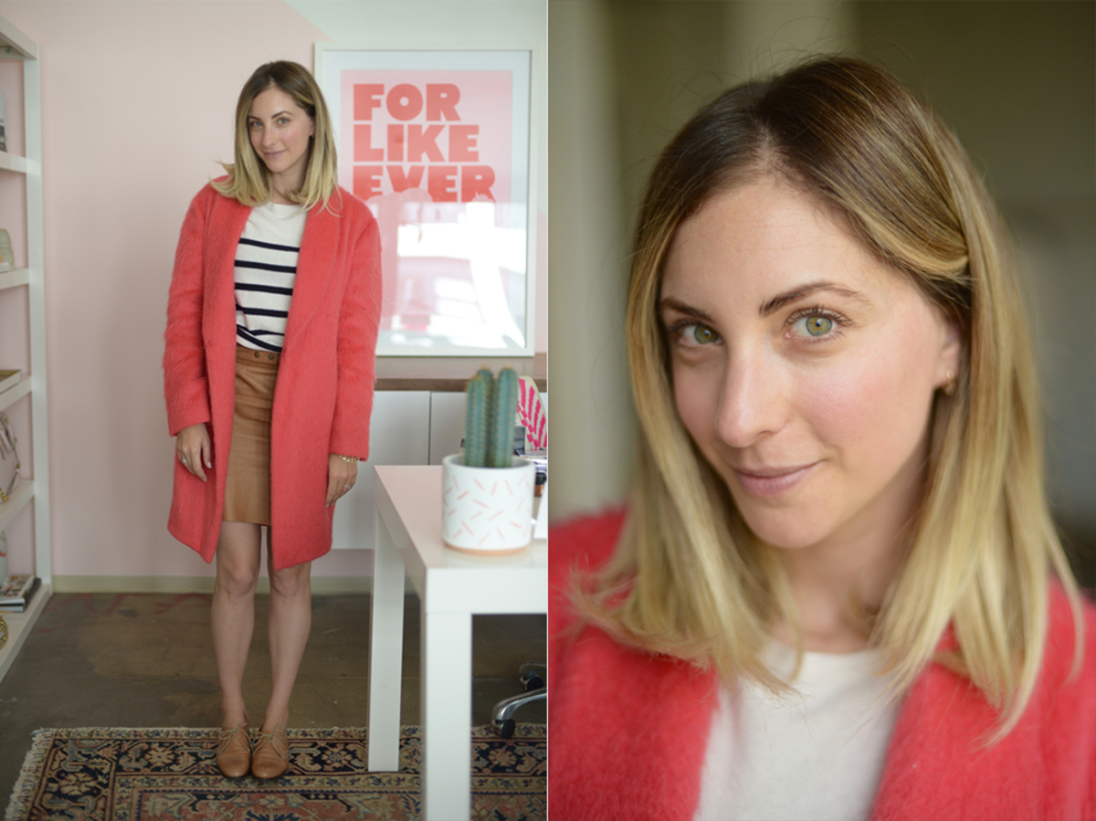 Monday: Elizabeth and James Coat, APC Sweater, Ryder Skirt, Madewell Oxfords (similar here)