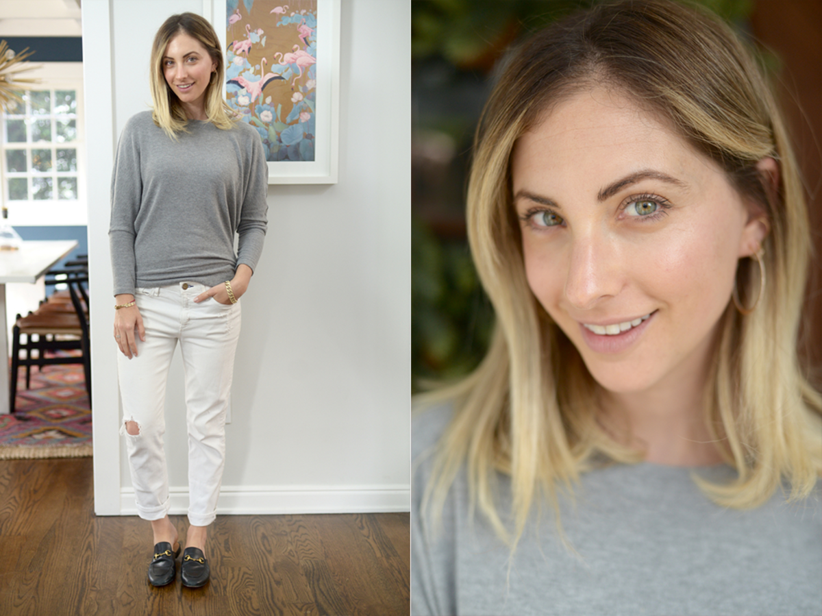 Tuesday: Cupcakes and Cashmere Sweatshirt (similar here), McGuire Denim (similar here), Gucci Flats