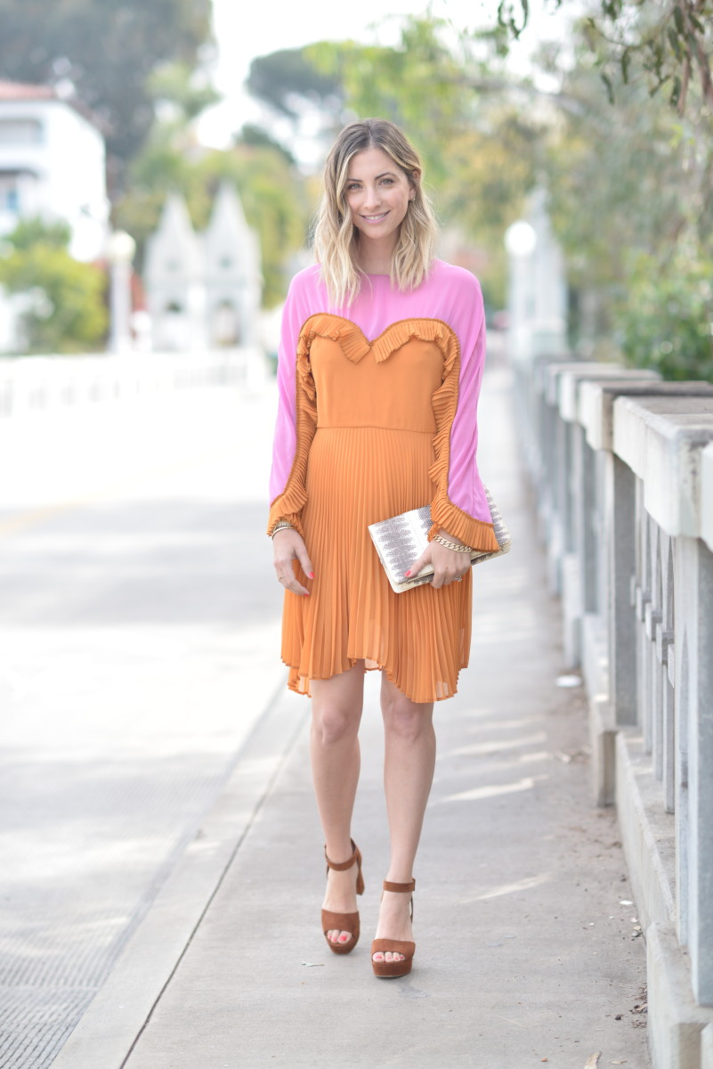 Delfi Collective Dress (on sale!), Vintage Clutch, Miu Miu Platforms