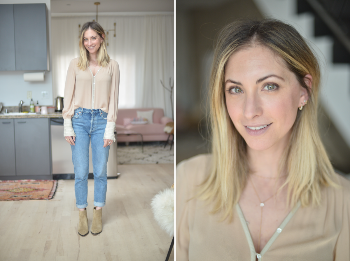 Tuesday: Elizabeth and James Blouse (similar here), Agolde Jeans, Isabel Marant Booties (similar here)