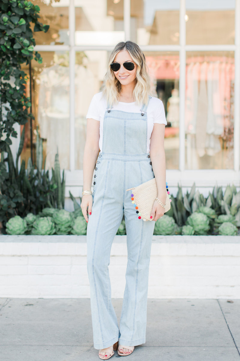 Ray-Ban Aviators, Stateside T-Shirt, Cupcakes and Cashmere Overalls, Givenchy Sandals (similar here), Shiraleah Clutch