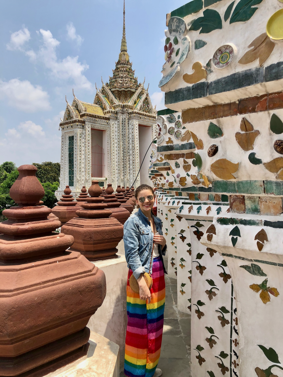 Don't do as I did and wear shorts to the temple, unless you want to rent a super-cool rainbow skirt of shame.