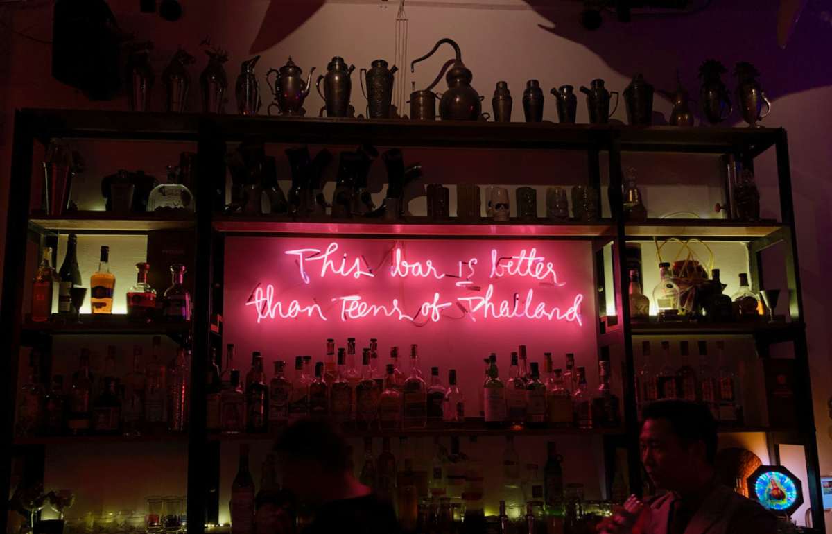 Cheeky neon sign at the bar Asia Today (across the street from Teens of Thailand).