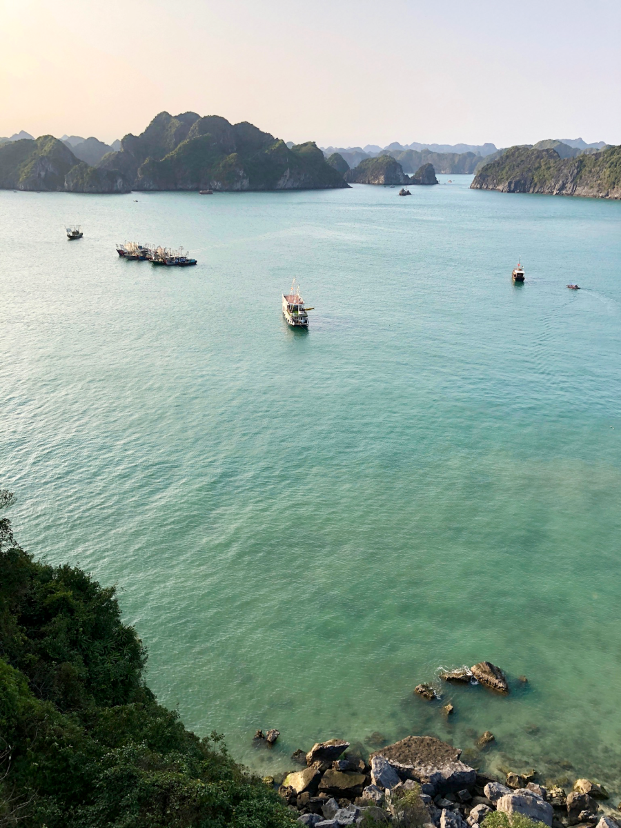 The view from the top of Monkey Island in Lan Ha Bay.