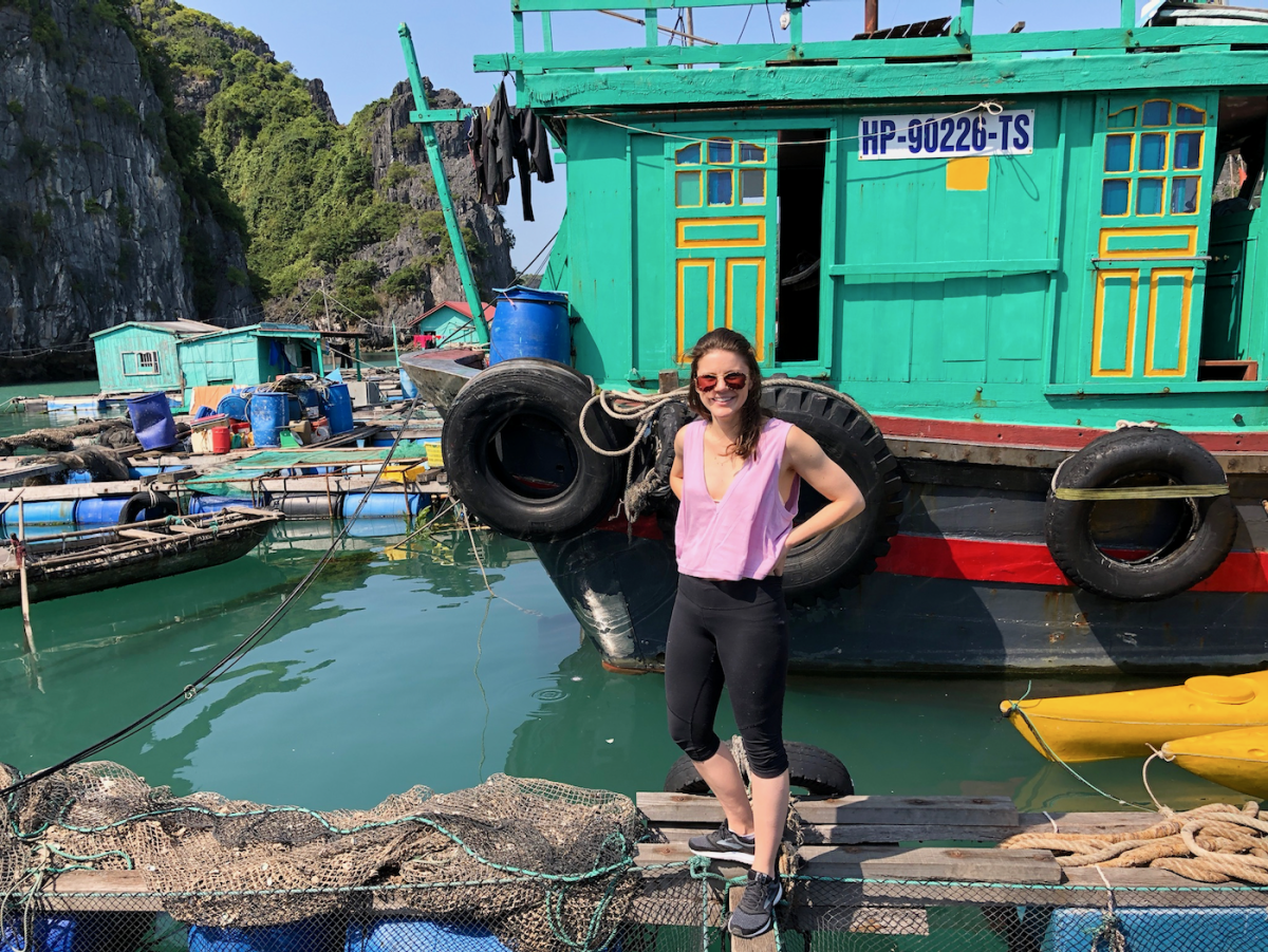 Visiting the floating villages.