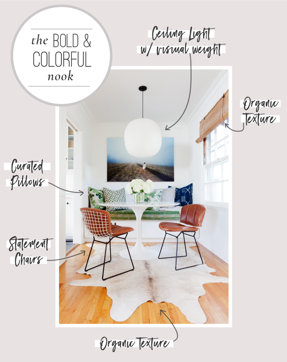 6 Tips for Creating a Cozy Breakfast Nook Graphics_Bold & Colorful Nook