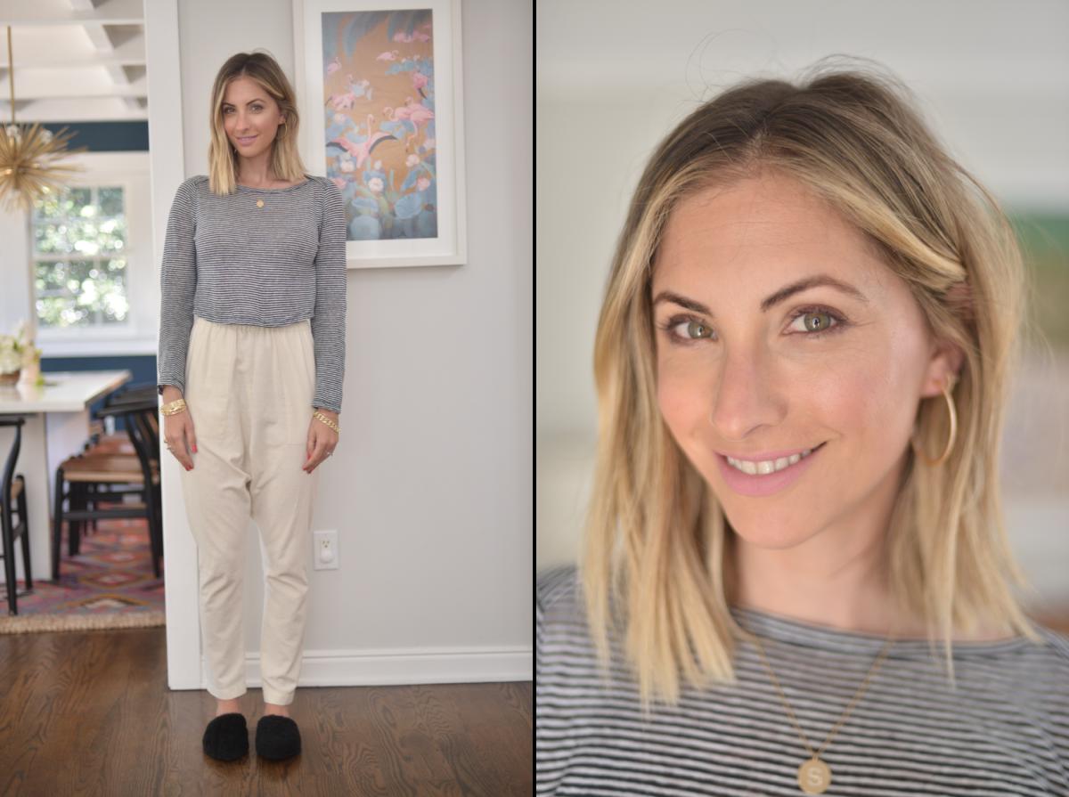 ALC Shirt (similar hereand here), Heidi Merrick Pants (similar here), Jenni Kayne Flats