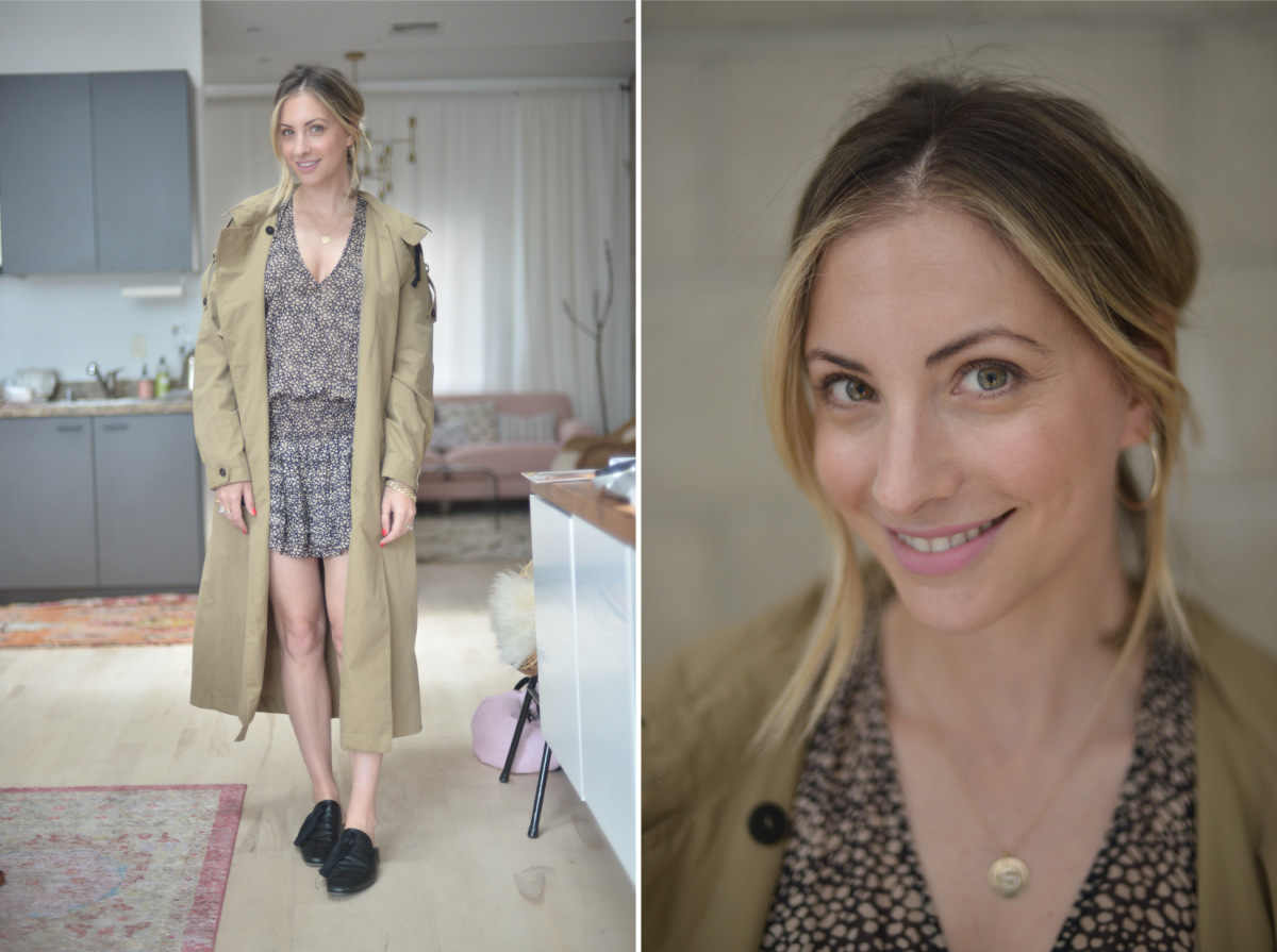 Wednesday: Zara Trench (similar here), Ulla Johnson Dress (similar here), Edun Loafers (similar here)