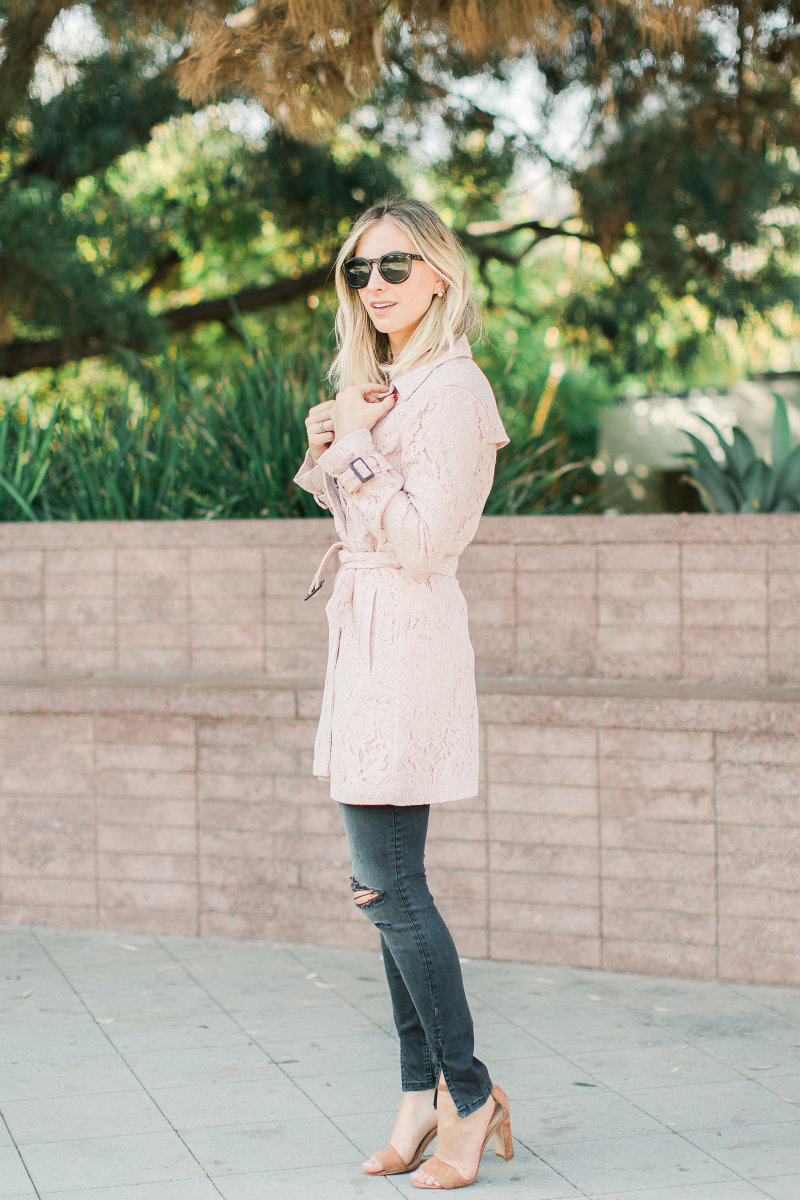 Cupcakes and Cashmere Trench, Boyish Jeans, Manolo Blahnik Heels (similar here), Celine Sunglasses
