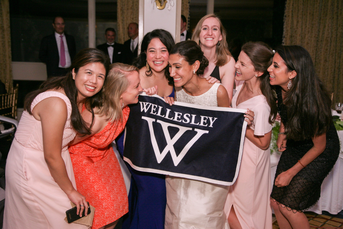 Wellesley women at a friend's recent wedding