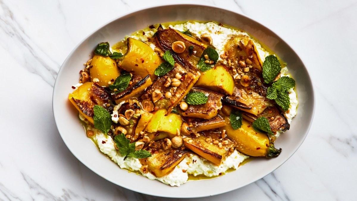 marinated-zucchini-with-hazelnuts-and-ricotta