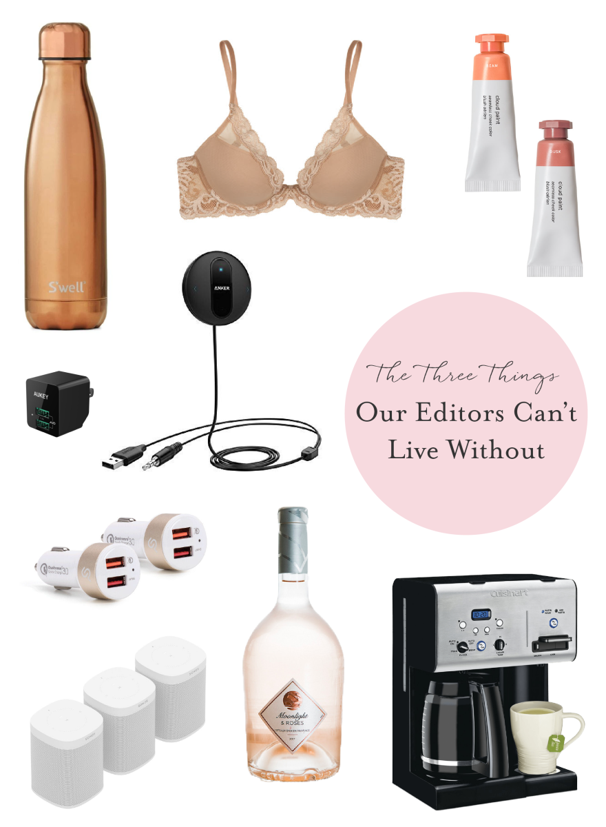 The 3 Things Each of our Editors Can't Live Without_Promo