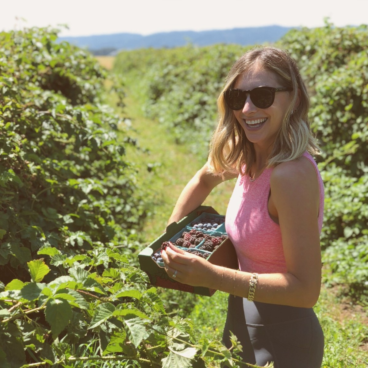 Berry picking at Columbia Farms on Sauvie Island