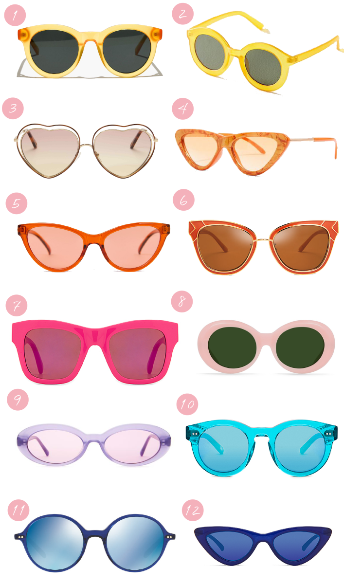 How to Wear Bright Sunglasses (and Still Look Chic)_Graphic