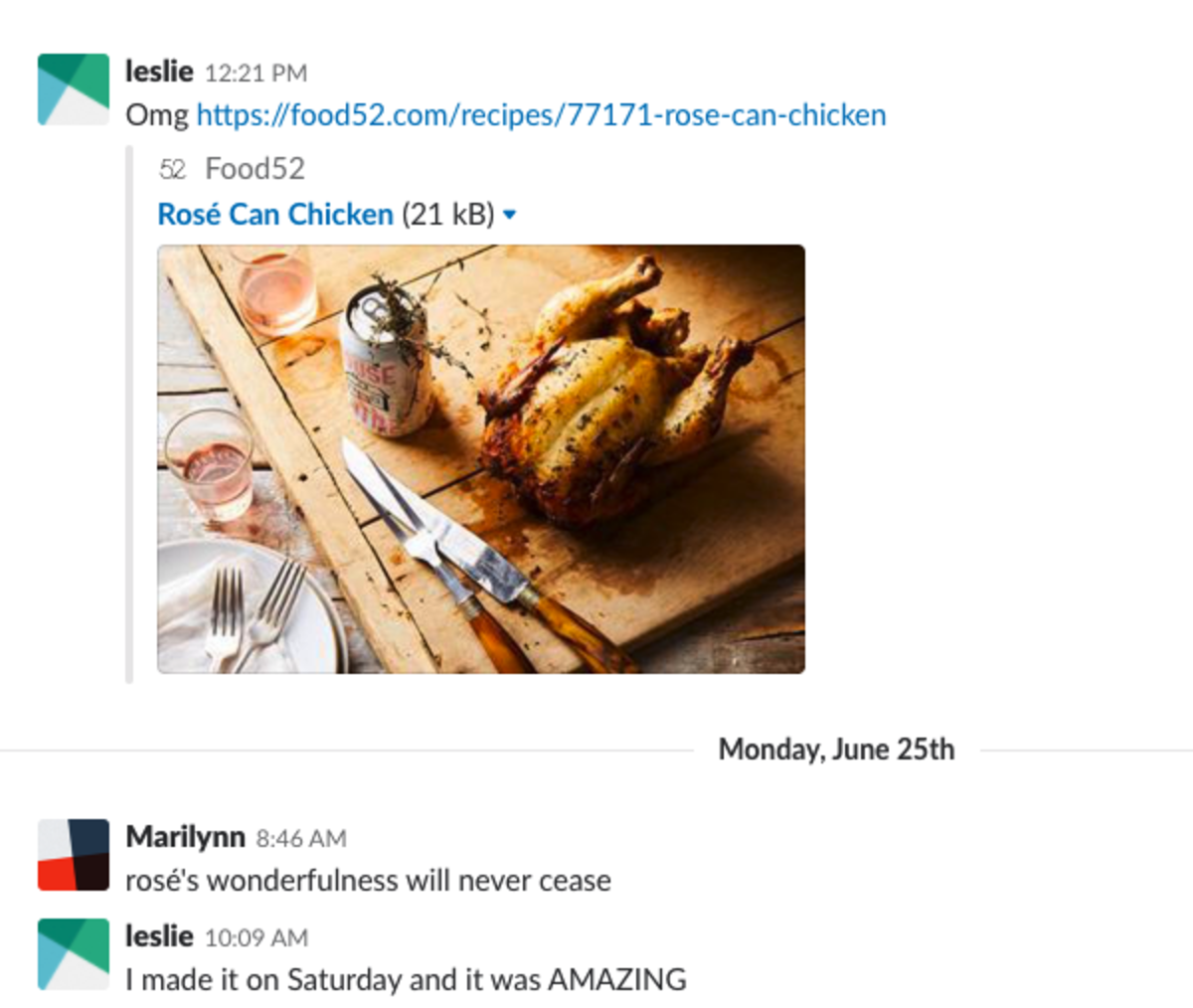 This is how most of the conversations on our company Slack go