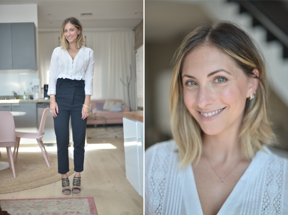 Tuesday: Doen Blouse (similar version here), Tibi Pants (similar version here), Dries van Noten Heels (similar version here)