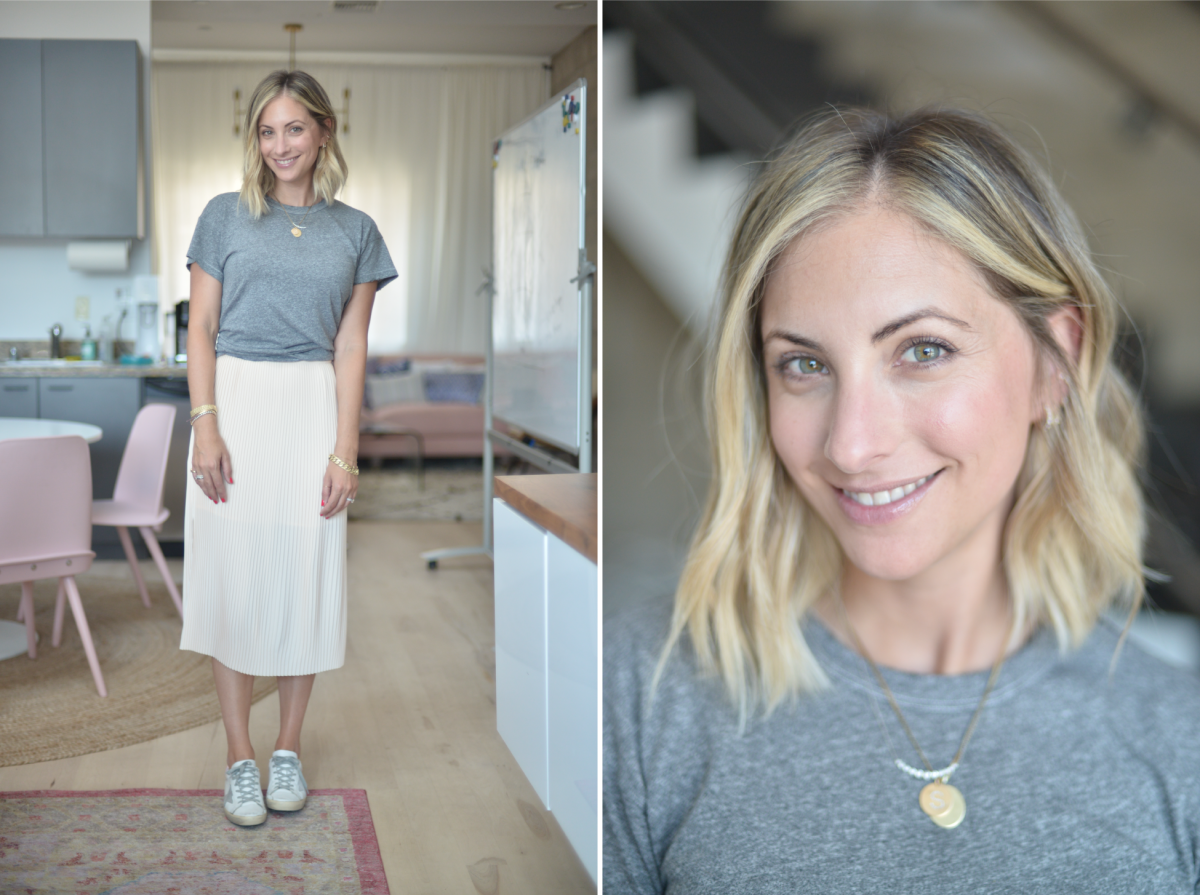 Wednesday: The Great T-Shirt, & Other Stories Skirt, Golden Goose Sneakers