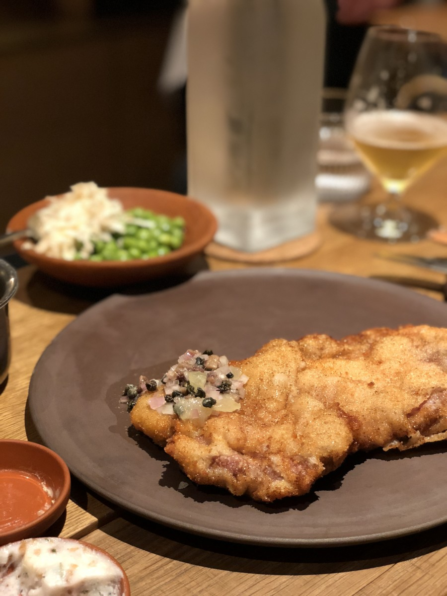 The schnitzel at Barr is the stuff of dreams