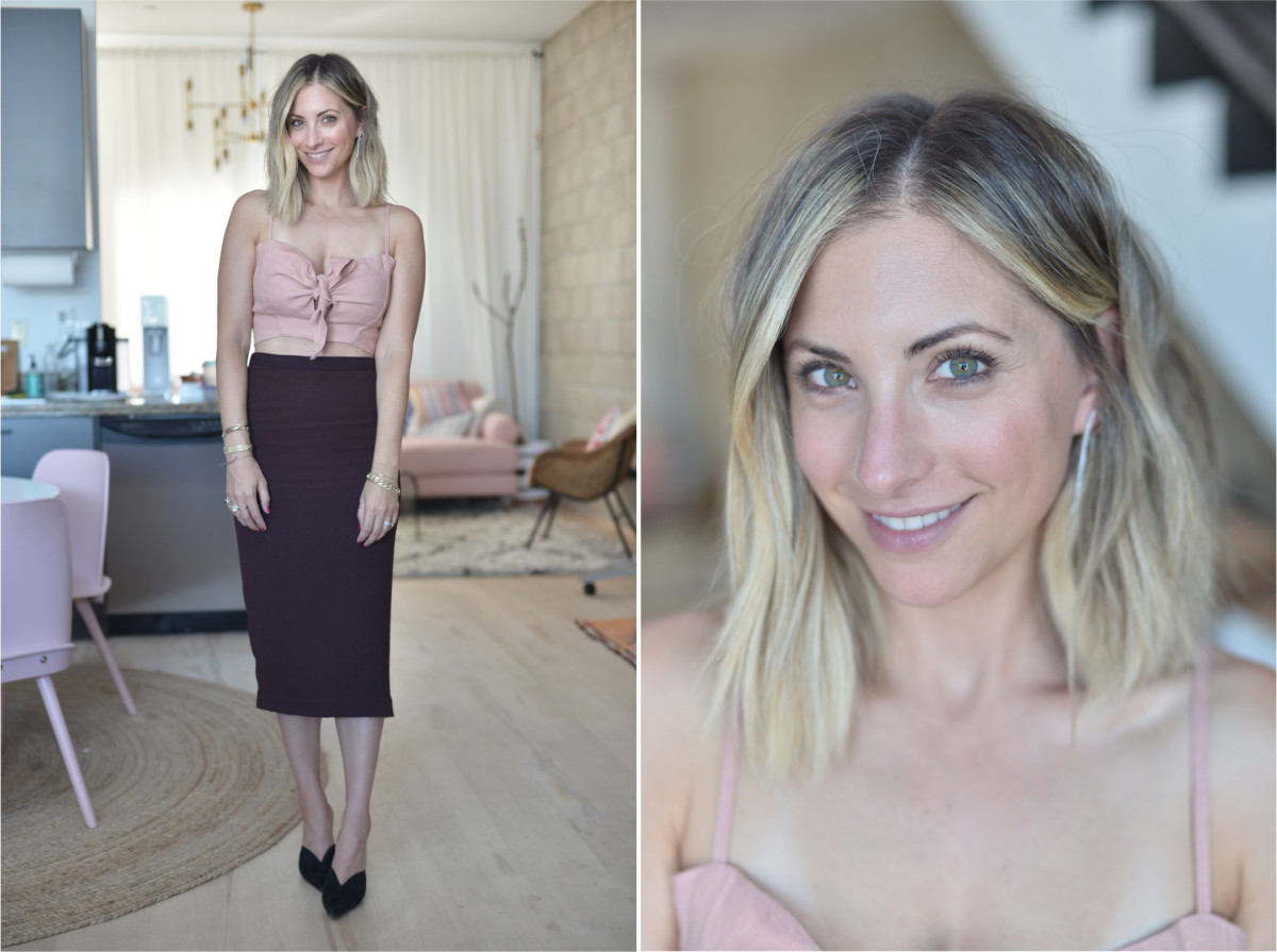 Wednesday: Faithfull the Brand Top, ALC Skirt (similar version here), Alexandre Birman Heels (similar version here, on sale!)