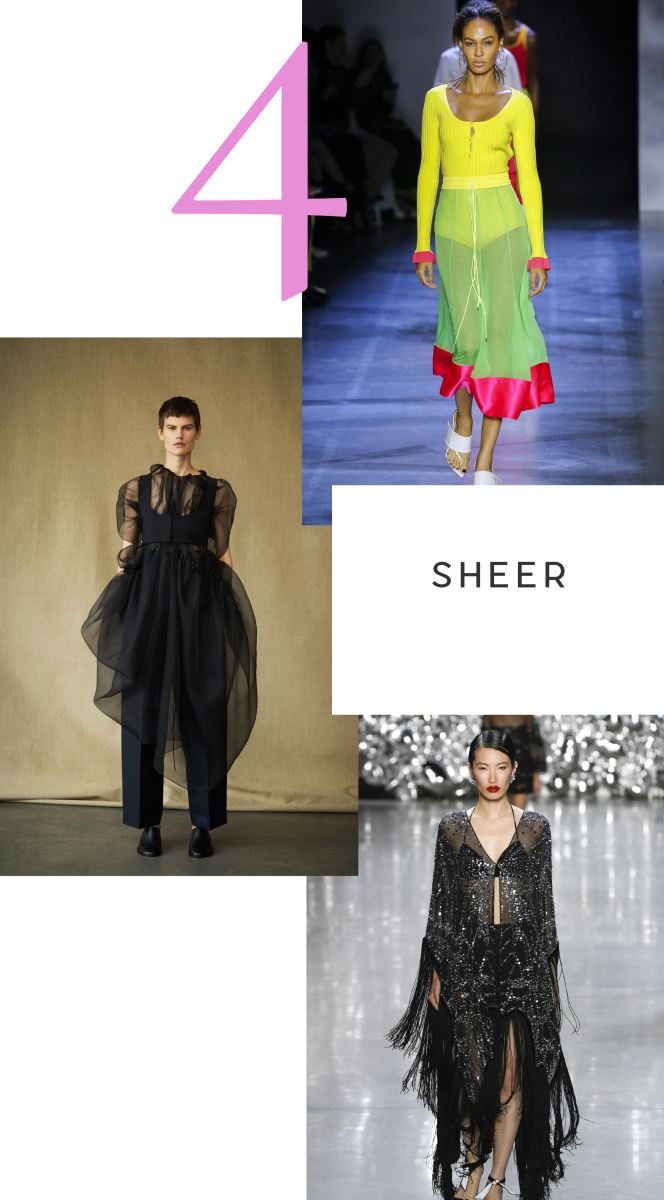 Clockwise from top: Prabal Gurung, Naeem Khan, The Row