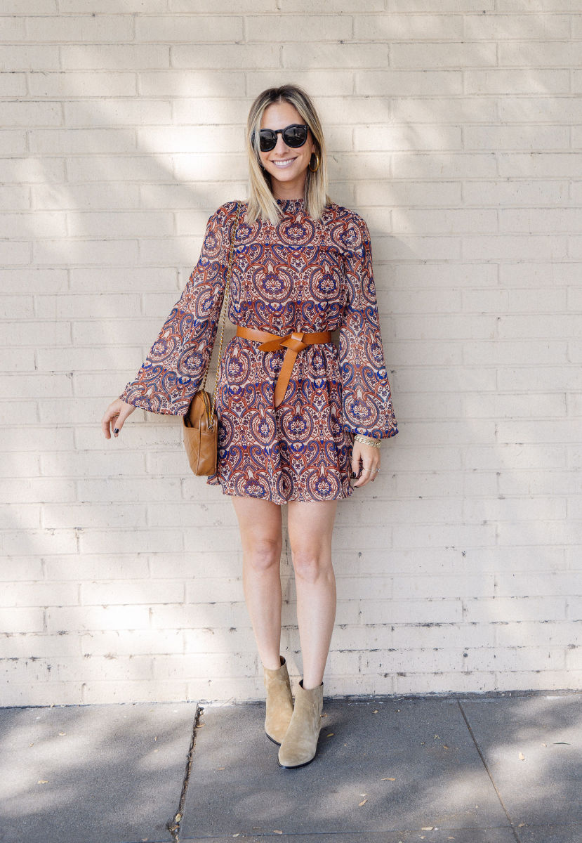 Celine Sunglasses (similar, affordable version here), Cupcakes and Cashmere Dress, Isabel Marant Belt and Booties, Vintage Chanel Purse (similar version here)