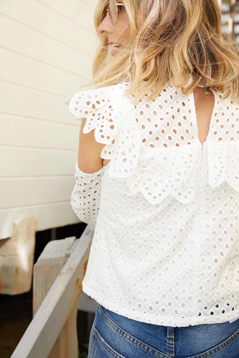 English Factory Eyelet Top Original Price: $115, Pop-Up Price: $58 (50% off)