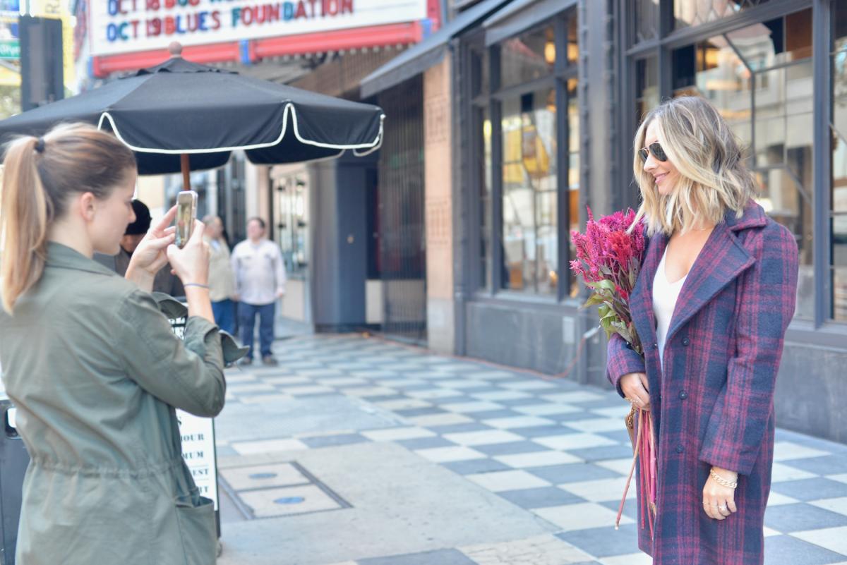 Grabbing Behind the Scenes shots for @shopcupcakesandcashmerein the Aldean Coat