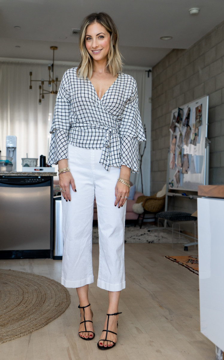 Friday: Cupcakes and Cashmere Top, Club Monaco Pants, Zara Sandals