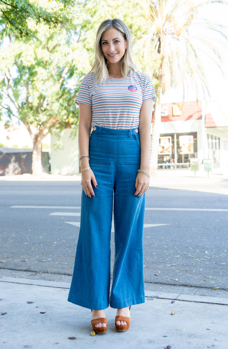 Tuesday: Madewell Tee (similar version here), Samantha Pleet Jeans (similar version here), Miu Miu Heels (similar version here)