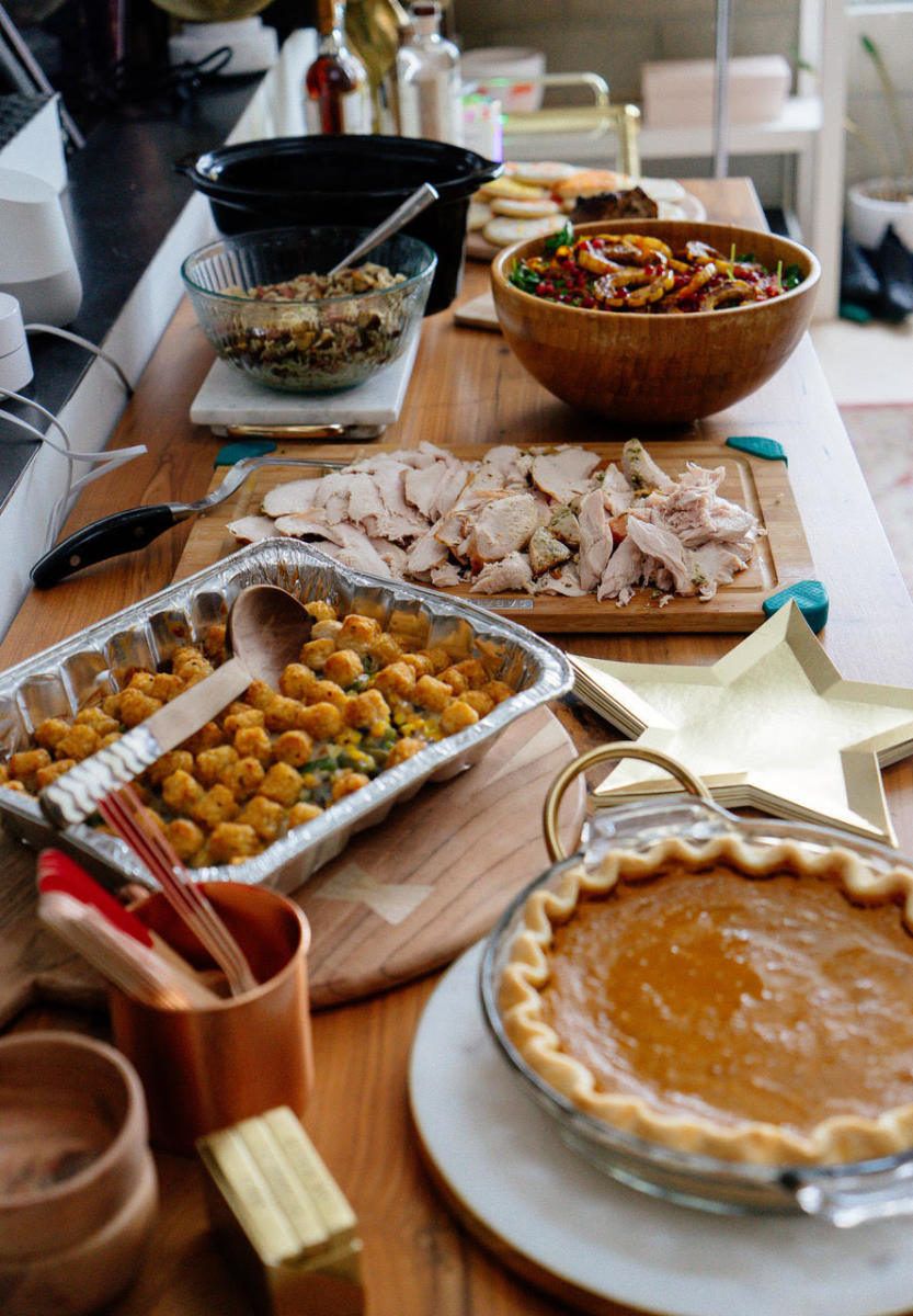 Emily's Pumpkin Pie, Kelly's Tater Tot Hot Dish, Geoffrey's Turkey, Leslie's Salad, Ann's Stuffing (and more!)